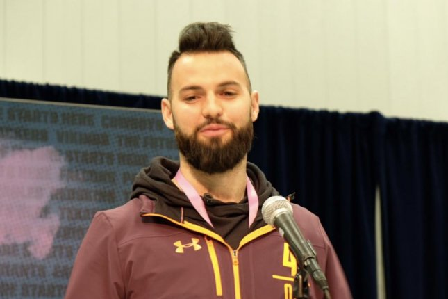 The Carolina Panthers selected former West Virginia quarterback Will Grier in the third round of the 2019 NFL Draft. Photo by Alex Butler/UPI