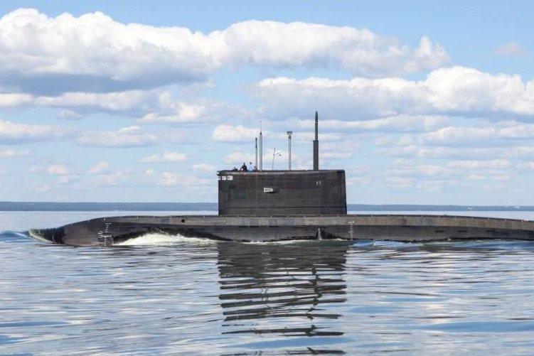 A Russian Varshavyanka-class submarine in the Black Sea. Russian Ministry of Defense photo