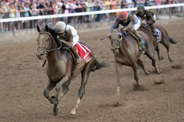 Yoshida, seen winning the 2018 Woodward Stakes, is among the favorites for Saturday's Grade I Stephen Foster at Churchill Downs, a Win and You're In race for the Breeders' Cup Classic. Photo by Chelsea Durand/Courtesy of New York Racing Association