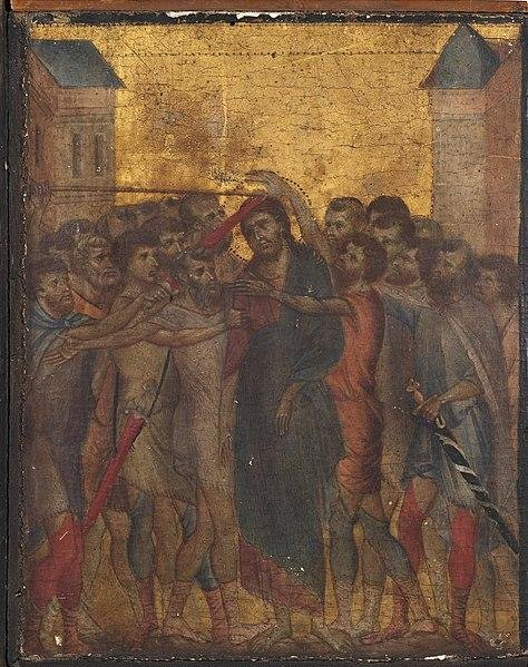 France has blocked the export of the Christ Mocked painting by Cimabue found in Northern France. Photo of artwork by Cimabue.