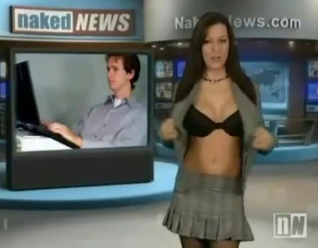 A Screengrab Of The Infamous Naked News