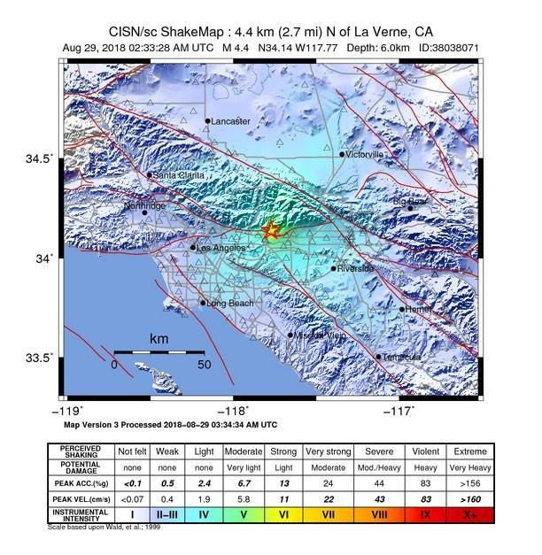 4 4-magnitude earthquake shook Southern California - UPI com