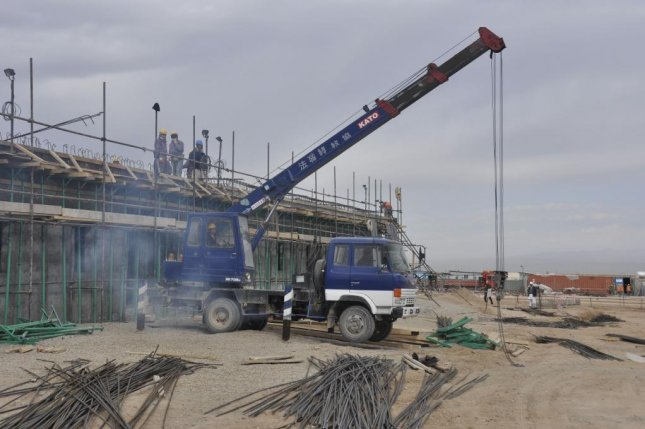 Workers continue vertical construction at the 9th Commando Kandak project near Herat, Afghanistan. U.S. Army Corps of Engineers photo by Mark Ray