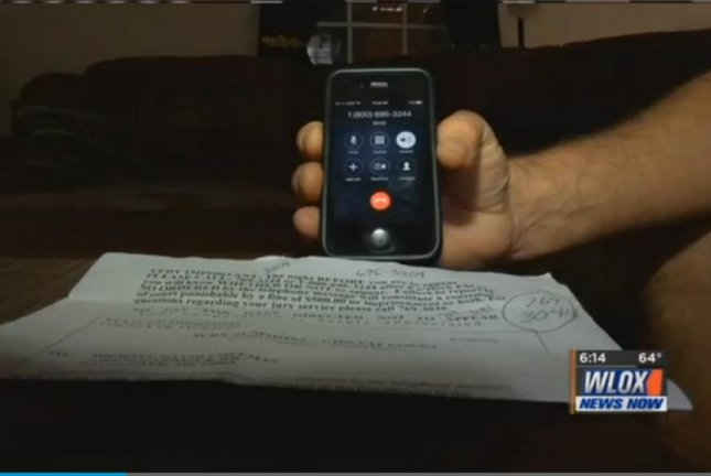 At least 350 people in a Mississippi county received jury summonses misprinted with the number for a phone sex line. WLOX-TV video screenshot