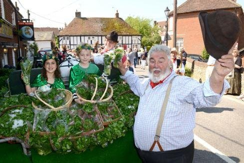 Watercress-eating competition is a mouthful