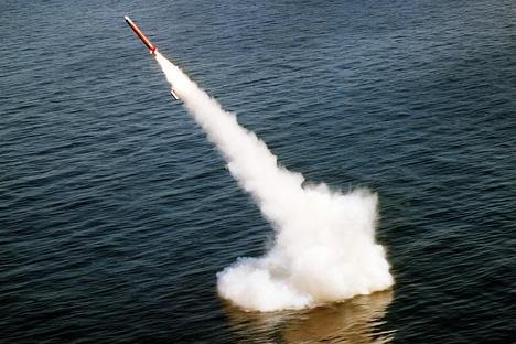 The test of Bulava intercontinental ballistic missile. Photo courtesy of Russia Beyond the Headlines