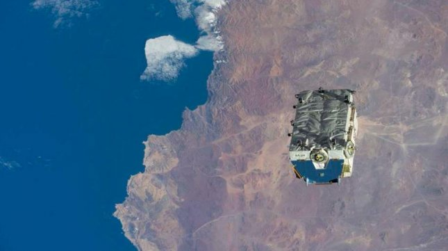 A 2.9-ton pallet of nickel-hydrogen batteries became the most massive single piece of junk ever to be jettisoned from the International Space Station. Photo courtesy NASA