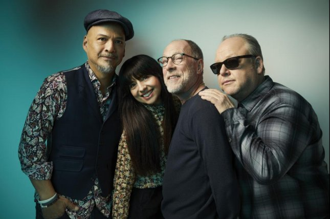 Pixies, from from left to right, Joey Santiago, Paz Lenchantin, David Lovering and Black Francis. Santiago said recording the band's latest album, Beneath The Eyrie, almost felt like how it felt doing our earlier records. Photo by Travis Shinn