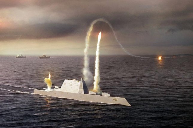 """China says it is """"watching closely"""" U.S. plans to deploy the USS Zumwalt, a multi-mission stealth ship, near the Korean peninsula. Image courtesy of U.S. Navy"""