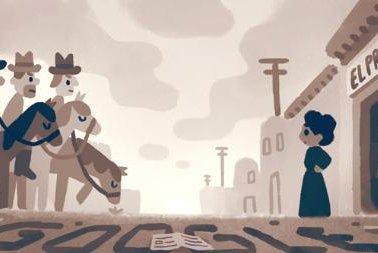 Google pays homage to journalist, educator, nurse and activist Jovita Idár with a Doodle Monday. Image courtesy Google