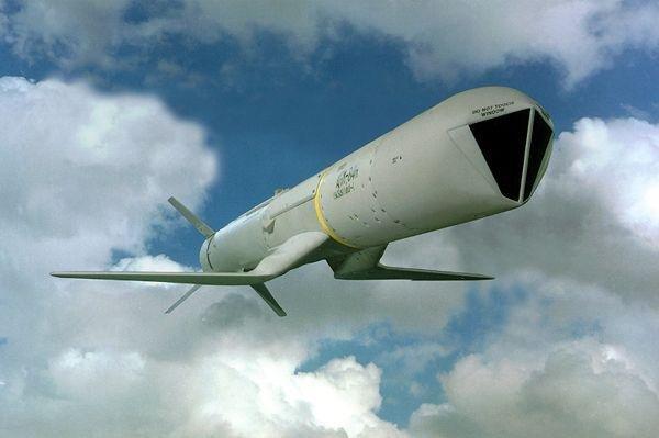 A Standoff Land Attack Missile Expanded Response Missile or (SLAM ER). Saudi Arabia will get 650 SLAM-ERs and 973 JSOWs, the Emirates 300 SLAM-ERs and 1,200 JSOWs.