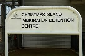 Australian authorities recovered 25 asylum-seekers on December 3, 2013 and took them to the Christmas Island Immigration and Detention Center. The boatpeople had camped out on Christmas Island for days, subsisting on crab and coconuts. (CC/DIBP)