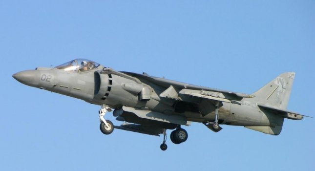 A U.S. Marine Crops AV8B Harrier II, similar to the one pictured, crashed in the Pacific Ocean off the island of Okinawa, Japan on Thursday. Local coast guard reported rescuing at least one person from near the crash site. Photo D. Miller/Wikipedia