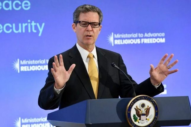Ambassador-at-large for International Religious Freedom Sam Brownback delivers closing remarks at the 2018 Ministerial to Advance Religious Freedom at the U.S. Department of State in Washington. Photo courtesy of the U.S. State Department