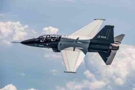 The T-50A trainer/light attack aircraft developed by Lockheed Martin and Korea Aerospace Industries. Photo courtesy Lockheed Martin