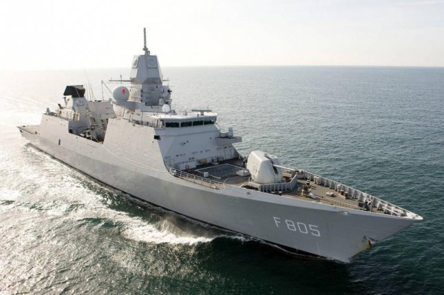 The frigate HNLMS Evertsen of the Royal Netherlands Navy will join the UK Carrier Strike Group on its initial deployment in May, the British Defense Ministry said on Wednesday. Photo by Netherlands Ministry of Defense