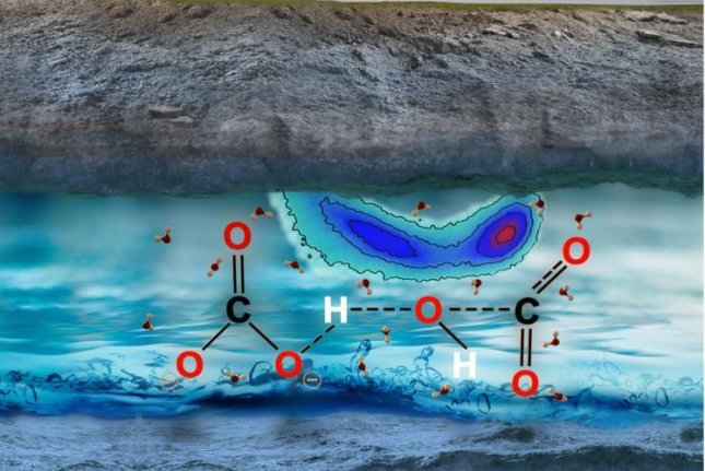 Carbon found in the fluids trapped in Earth's mantle comes in the form of carbonate and bicarbonate ions, not CO2 molecules. Photo by Giulia Galli, et al./Science Advances