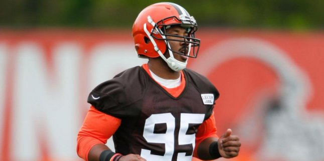 Defensive end Myles Garrett, the No. 1 overall pick in this year's NFL Draft, is expected to make his professional debut Sunday against the New York Jets. Photo courtesy of Cleveland Browns/Twitter