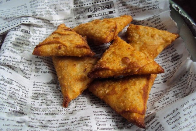 The Chai Walla eatery in Bath, England, attempted to send a samosa to space using weather balloons, and the food ended up crash-landing in a field in Caix, France. Photo by nuzree/Pixabay.com