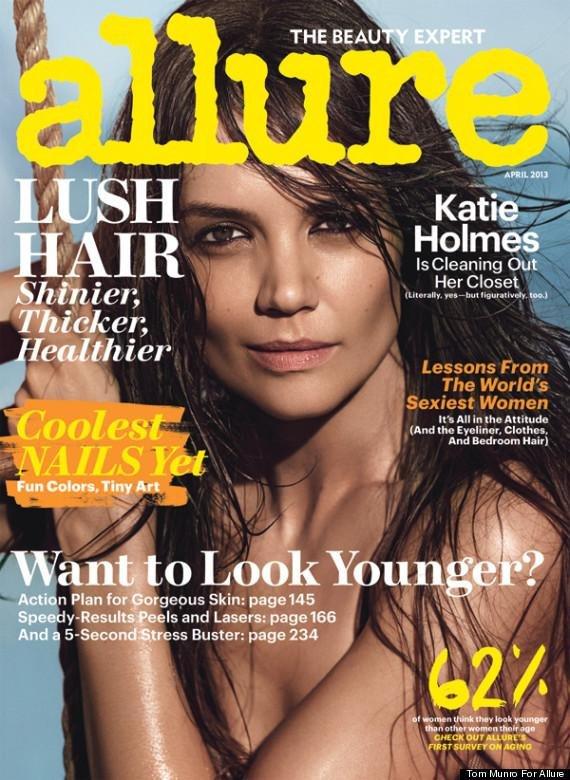 Katie Holmes on Allure CREDIT: Allure