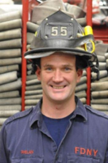 New York City firefighter Thomas Phelan died Friday at the age of 45. Photo via Uniformed Firefighters Association of Greater New York