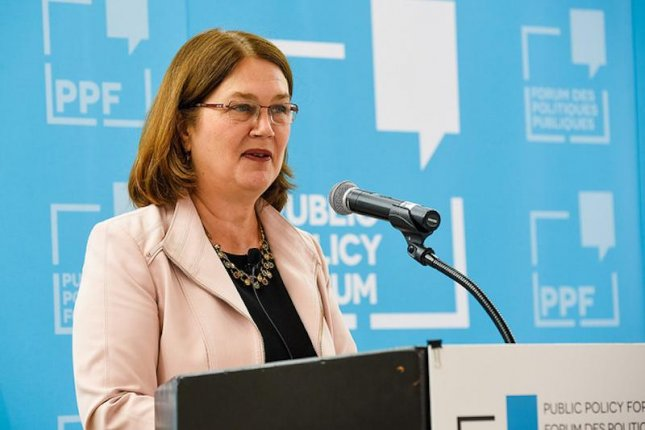 Jane Philpott resigned as president of the Canadian Treasury Board on Monday, citing a loss of confidence in the government's handling of a corruption investigation targeting a major Canadian contractor. Photo by Darren Brown/Flickr