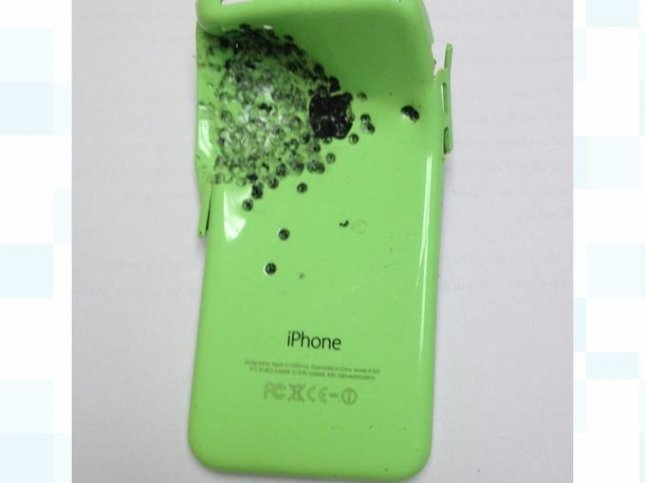 The victim's iPhone was in his pocket and absorbed the brunt of the shotgun blast. Photo courtesy Cheshire Police
