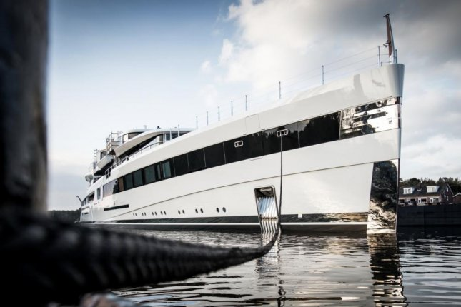 Project 814 -- or Lady S -- is 305 feet long and features a two-deck IMAX theater. Photo courtesy of Feadship