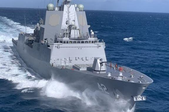 Australia's newest guided missile destroyer, designated NUSHIP Sydney, completed its sea trials, the Australian Defense Department announced on Saturday. Photo courtesy of Australian Defense Department