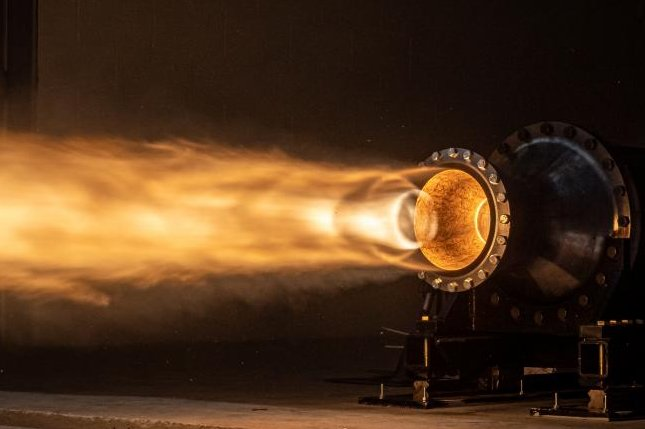 Rocket Crafters, a startup rocket development company in Florida, completed a new round of tests on its hybrid rocket engine. Photo courtesy of John Kraus/Rocket Crafters