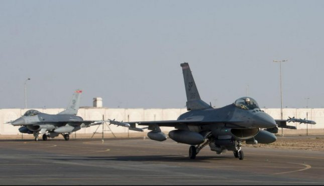 F-16 fighter planes of the 480th Fighter Squadron, 52nd Fighter Wing, moved from Germany to the United Arab Emirates, CENTCOM announced on Monday. Photo by SSgt. Zade Vadnais/U.S. Air Force