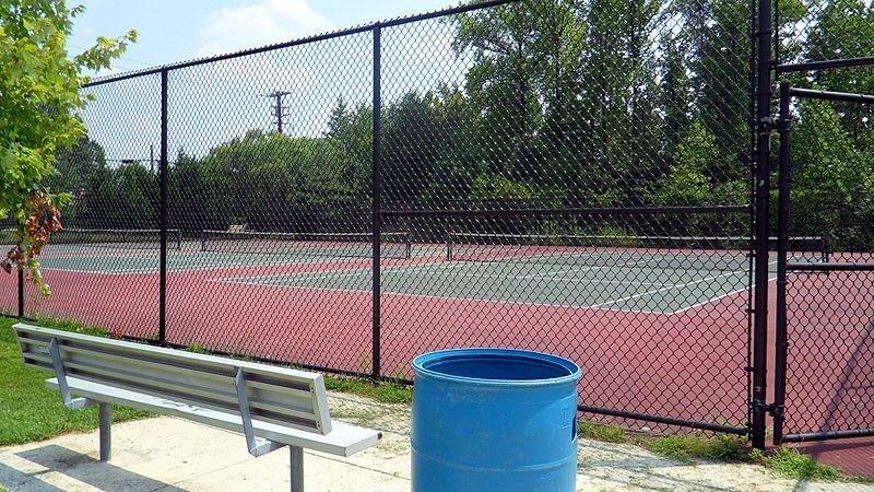 High school tennis courts. (CC/Northwestern High School)