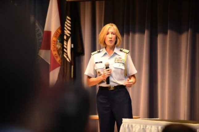 Rear Adm. Melissa Bert was named as the U.S. Coast Guard's judge advocate general and chief counsel, the top legal position in the service branch. She is the first female to hold the position. Photo by PO2 Anthony Soto/USCG