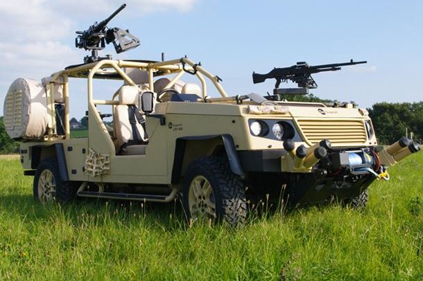 The new LRV400 light reconnaissance vehicle from Supacat. Photo courtesy Supacat