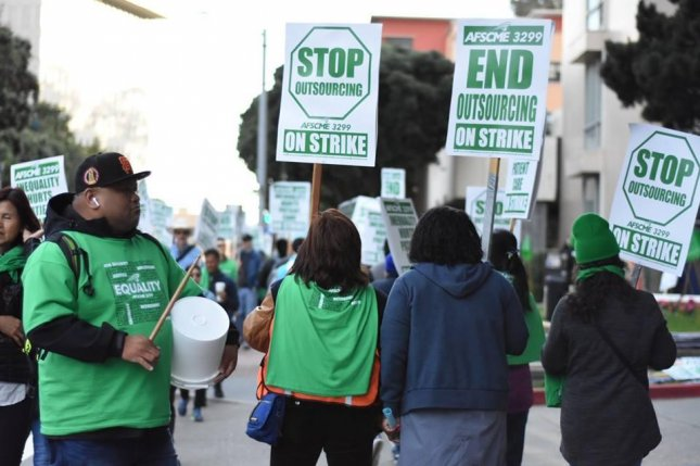 Thousands of University of California workers will strike on Thursday in protest of plans by the university to outsource jobs. Photo courtesy AFSCME 3299/Facebook