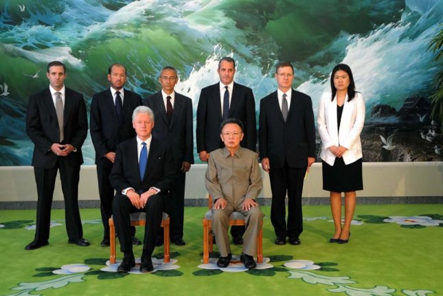 Former President Bill Clinton tried to defuse tensions between Washington and Pyongyang during a historic meeting with North Korea's Kim Jong Il in 2009, according to a memo posted to website WikiLeaks. File Photo by KCNA