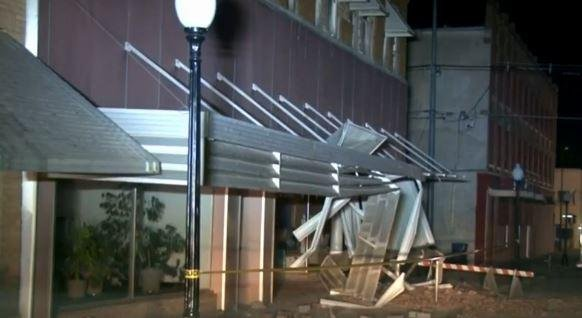 The city manager of Cushing, Okla., said the city will consult a structural engineer to determine which buildings, if any, will be closed following the 5.0-magnitude earthquake on Sunday that damaged between 40 and 50 buildings in the downtown area. Screenshot from CBS News