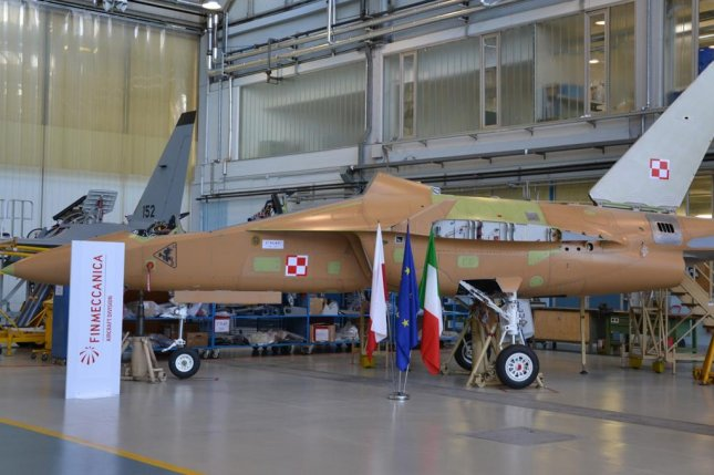 The first of eight Aermacchi M-346 trainer aircraft for the Polish Air Force. Photo courtesy Finmeccanica