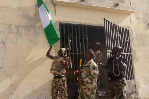 Troops freed captives of Boko Haram in operations in the Kala Balge area of Nigeria, the army reported. In two separate operations, 829 people were rescued. Photo courtesy of Nigerian Army.