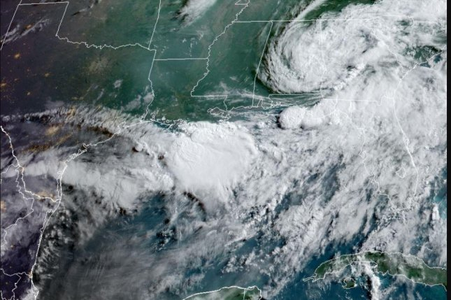 Claudette, the first named storm of the season, was downgraded to a tropical depression on Saturday afternoon but was forecast to become a tropical storm again Monday over eastern North Carolina, according to the National Hurricane Center. Image courtesy of the National Oceanic and Atmospheric Administration
