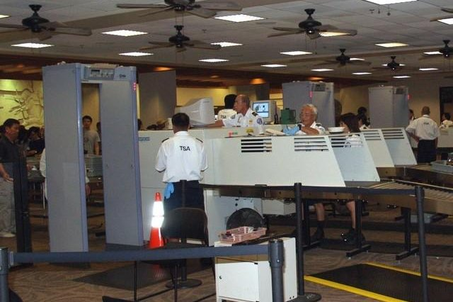 Passenger and luggage screening equipment at an airport in Hawaii. Photo: Hawaii State Government.
