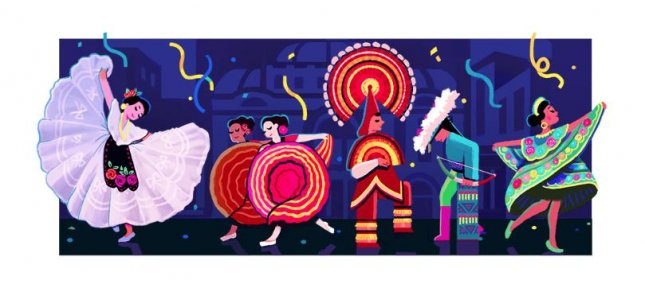 Google is paying homage to dancer and choreographer Amalia Hernandez with a new Doodle. Image courtesy of Google