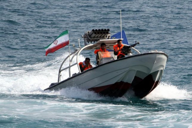 Iran's Revolutionary Guard seized a ship allegedly carrying diesel fuel bound for the United Arab Emirates, Tehran officials said. Photo by Abedin Taherkenareh/EPA-EFE