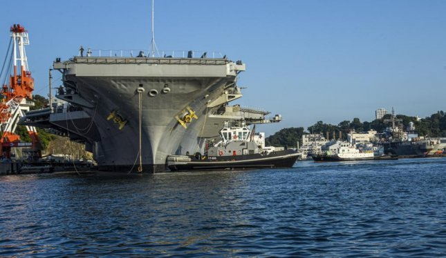 The USS Carl Vinson, a San Diego-based aircraft carrier, made the first non-forward deployed port visit to Yokosuka, Japan, in nearly a decade. Photo courtesy of U.S. Navy