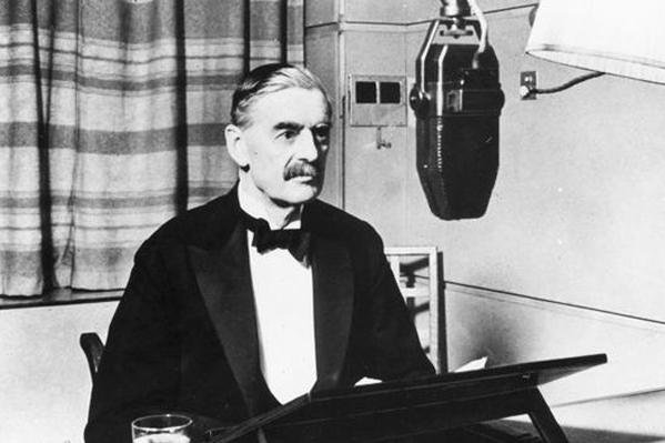 After failing to persuade Chancellor Hitler to cease hostilities in Poland and withdraw troops, Great Britain's premier Neville Chamberlain declared war on Germany in a history-making radio broadcast, on September 3, 1939. File/UPI