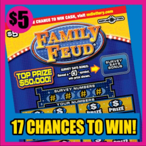 Family Feud lotto ticket leads to $50,000 win, family