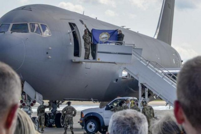 A KC-46 Pegasus refueling plane was delivered to Pease Air National Guard Base, N.H., in August. Photo by Senior Airman Taylor Queen/157th Air Refueling Wing/U.S. Air National Guard