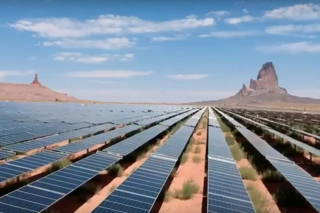 A solar farm on Navajo tribal land generates all the electricity used on the 17-million acre reservation. Photo courtesy of Navajo Tribal Utility Authority