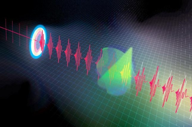 Short, stretched laser pulses allowed a new quantum sensor to detect spectral data at record speeds. Photo by Ideguchi et al./Communications Physics