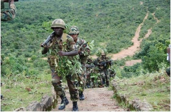 Nigerian army troops continued patrols to find remaining Boko Haram insurgents and uncovered large caches of weapons and ammunition Sunday, it said. Photo courtesy of the Nigerian Army/Facebook